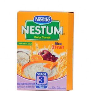 Nestle Nestum Rice 3 Fruit Stage 3 300 gms