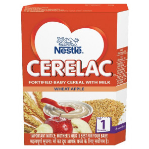 Nestle Cerelac with Milk Wheat Apple Stage 1