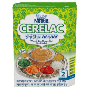 Nestle Cerelac with Milk Wheat Rice Moong Dal Veg Khichdi Stage 2