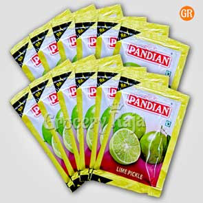 Pandian Lime Pickle Rs. 1 Sachet (Pack of 12)