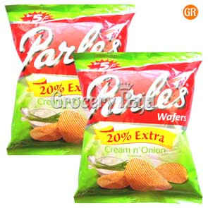 Parle Cream n Onion Chips Rs. 5 (Pack of 2)