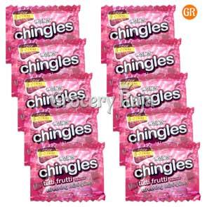 Pass Pass Chingles Tutti Frutti Rs. 1 (Pack of 10)
