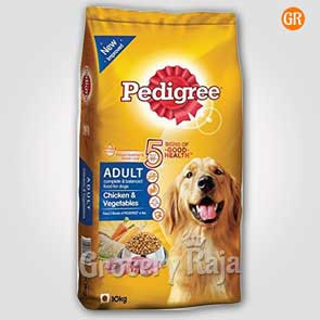 Pedigree Dog Food with Chicken &  Vegetables - Adult 10 Kg