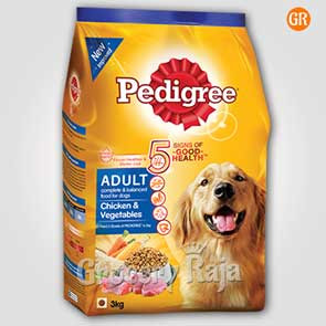 Pedigree Dog Food with Chicken & Vegetables - Adult 3 Kg