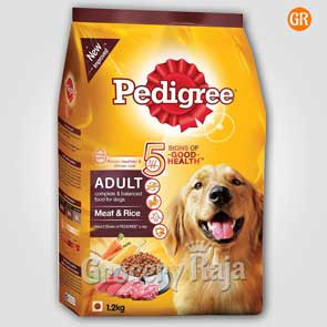 Pedigree Dog Food with Meat & Rice - Adult 1.2 Kg