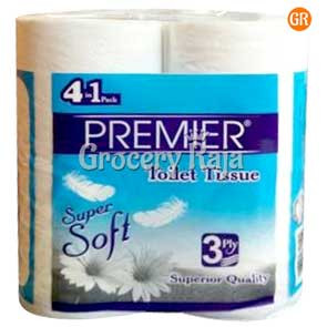Premier Super Soft Toilet Tissue 3 Ply 200 Sheets (Pack of 4)