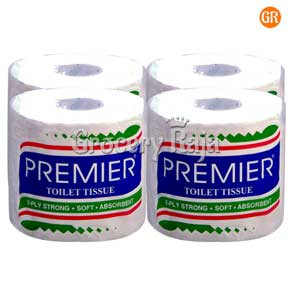 Premier Toilet Tissue 2 Ply 190 Sheets (Pack of 4)