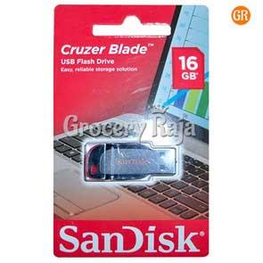 SanDisk Cruzer Blade SDCZ50-016G-I35 16GB USB 2.0 Pen Drive
