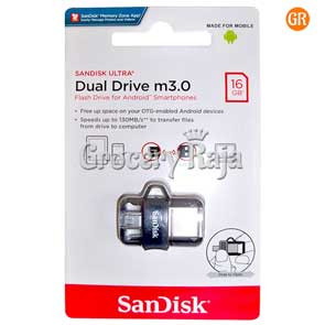 SanDisk Ultra Dual 16GB USB 3.0 OTG Pen Drive [40 CARDS]