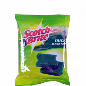 Scotch Brite Scrub Pad 7.5 x 10 cm (Pack of 3) 1 pc