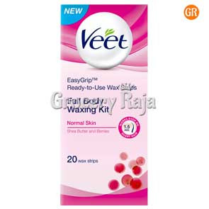 Veet Full Body Waxing Kit - Dry Skin 20 Strips