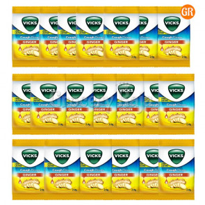 Vicks Cough Drops Ginger Rs. 1 (Pack of 20)