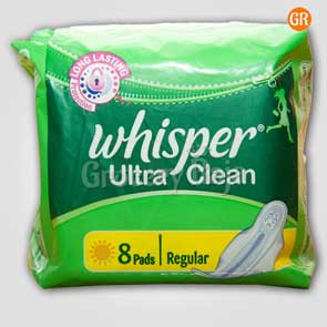 Whisper Sanitary Napkins - Ultra Clean with Wings 7 Pads
