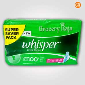 Whisper Ultra Clean XL Wings Sanitary Pads 30 Pads