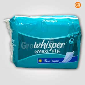 Whisper Maxi Fit Regular 15 Pads