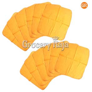 Yellow Dusting Cloth (Pack of 12) [9 CARDS]