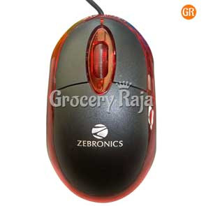 Zebronics Neon Optical USB Mouse - Black